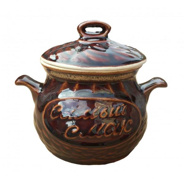 "Backtopf Keramik, ""Samij Smak"", klein, 0,65 l"