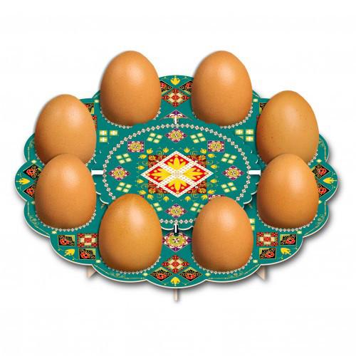 """Tablett für 8 Ostereier """"Тraditionell"""" aus Karton"""