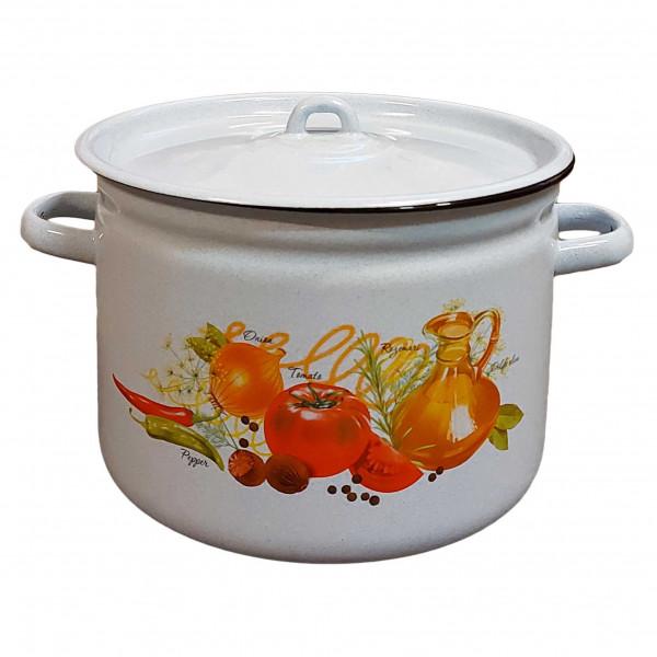 """Topf, emailliert """"Italienische Küche"""", 9,0"""