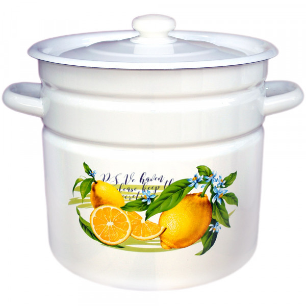 "Topf, emailliert ""Zitronen"", 20,0 L"