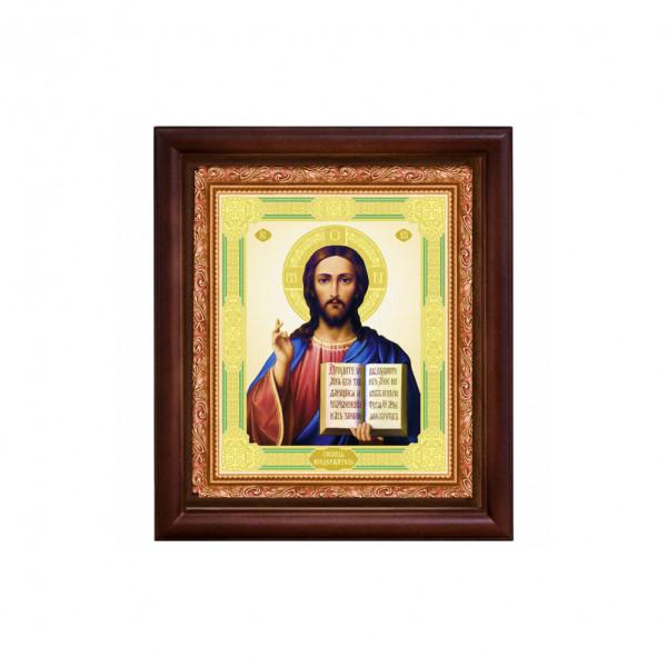 "Ikone mit Holzrahmen, ""Spasitel"" 15x18 cm"