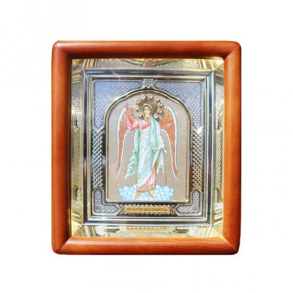 """Ikone mit Holzrahmen in Geschenkbox, """"Angel"""", 10x12 cm"""