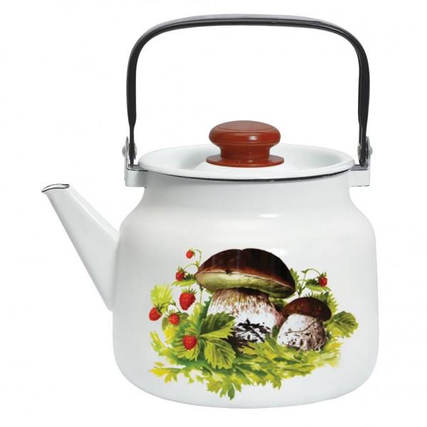 "Teekanne, emailliert, 3,5 L ""Pilze"""