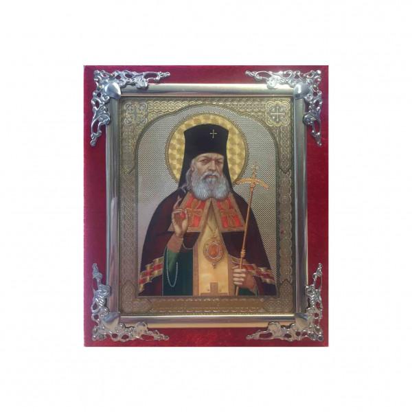 Ikone (Holz in Samt), Semistrelnaja, S.Luka Krimsky, 10x12 cm