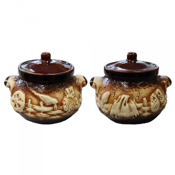 Keramiktopf, 750 ml, Set aus 2 St.