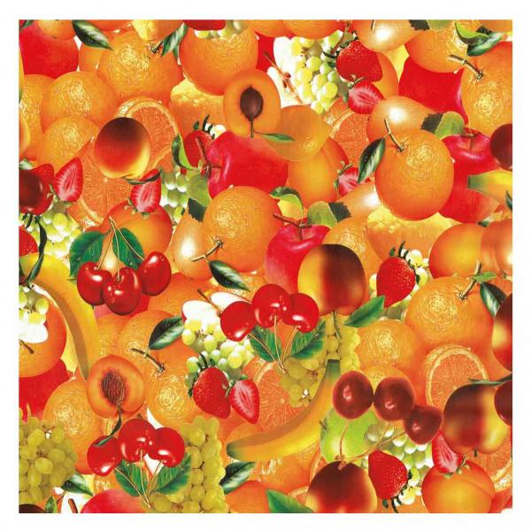 Tischdecke M, Orange Obst , 20x1,4 m