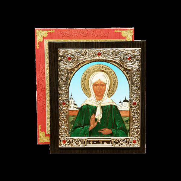 Ikone (Holz) mit Prägung, in Geschenkbox, 10x12 cm