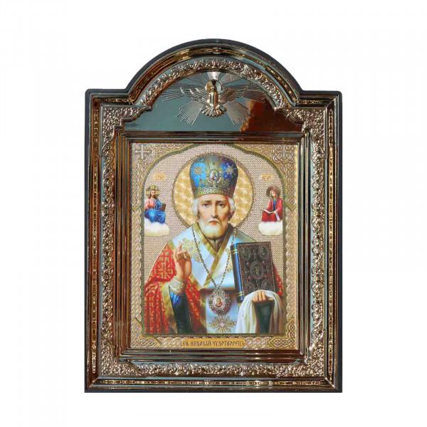 "Ikone (Kunststoff), ""Nikola Chudotvoretsj"", 10x12 cm"