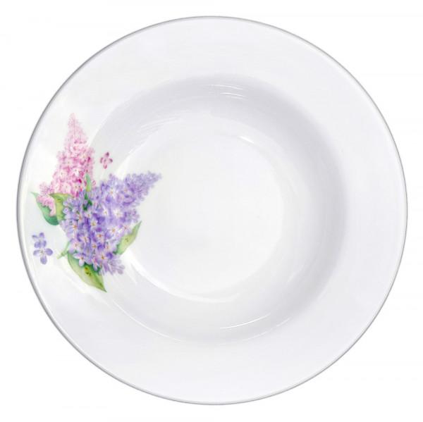 """Suppenteller aus Porzellan 20 cm """"Nostalgie"""" - """"Flieder"""""""