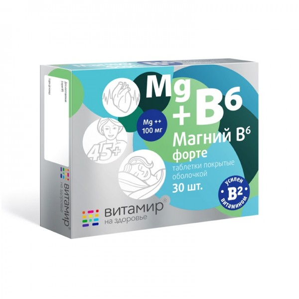 "Vitamir - ""Magnesium+B6"", 30 Tabl."