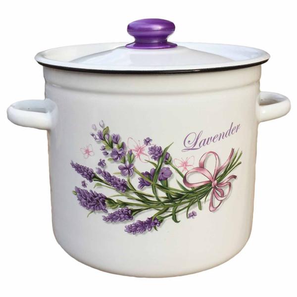 "Topf, emailliert ""Lavendel"", 7,0 L"