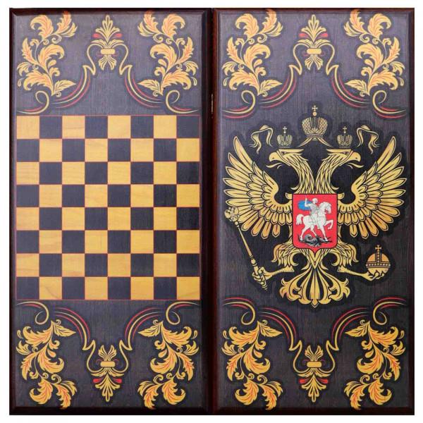 "Backgammon ""Russland"", aus Holz, 600x300 mm"