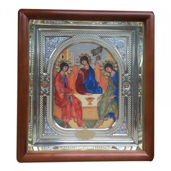 """Ikone mit Holzrahmen in Geschenkbox, """"S. Troitsa"""", 15x18 cm"""