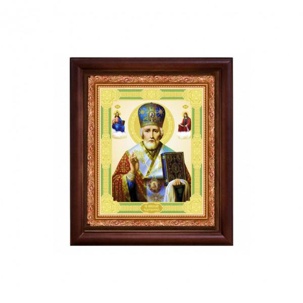 "Ikone mit Holzrahmen, ""Nikolaj"" 15x18 cm"