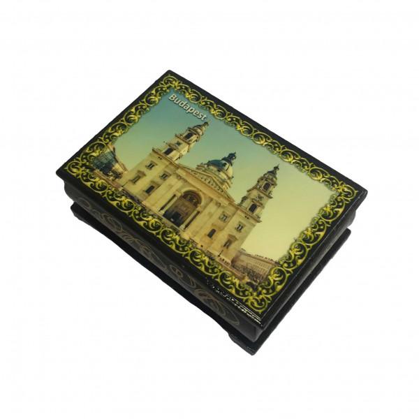 "Souvenir Schatulle ""Städte"", 9x6x3,5 cm"