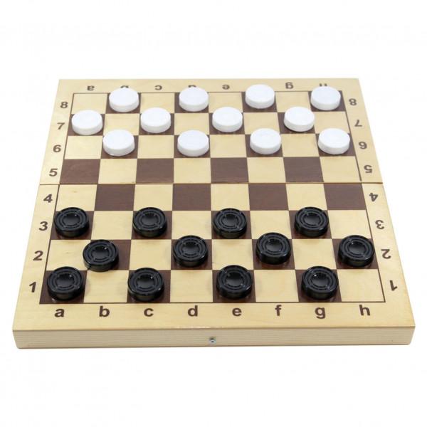 """Brettspiel """"Dame"""", in Holzbox (aus Plastik), 30x30 cm"""