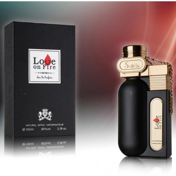 """Parfum für Herren """"Love on Fire"""", Schwarz"""