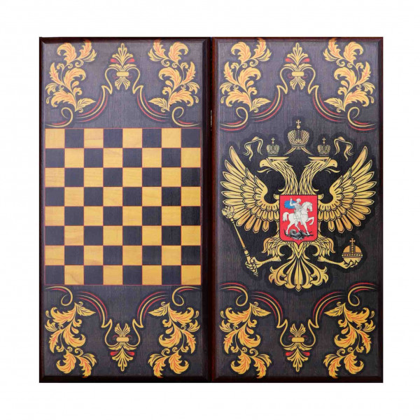 "Backgammon ""Russland"", aus Holz, 400x200 mm"