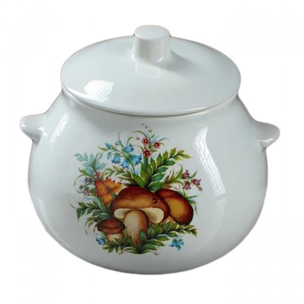 "Keramiktopf ""Dekor"", ""Pilze"" 650 ml, Set aus 6 St."