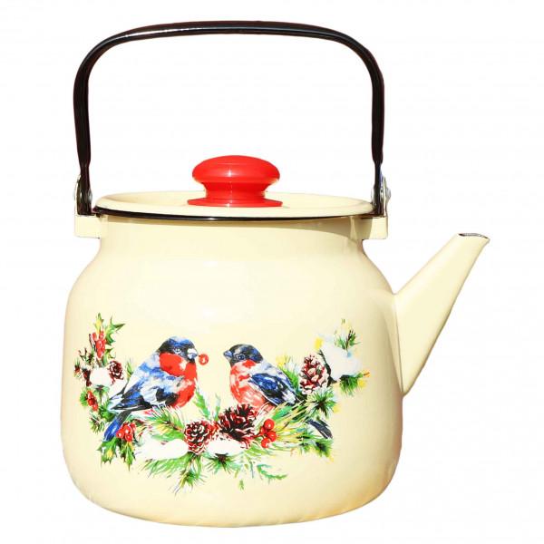 "Teekanne, emailliert, 3,5 L ""Snegiri"" (Gelb)"