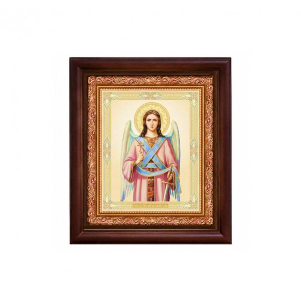 """Ikone mit Holzrahmen, """"Angel"""" 15x18 cm"""