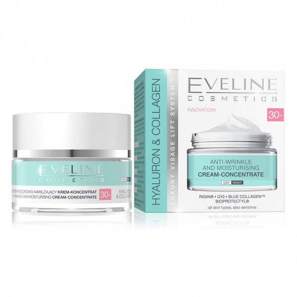 "Eveline ""Hyaluron & Collagen"" Gesichtscreme 30+, 50ml"
