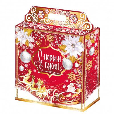 """Geschenkbox """"Goldener Schneesturm"""", bis 2 kg"""