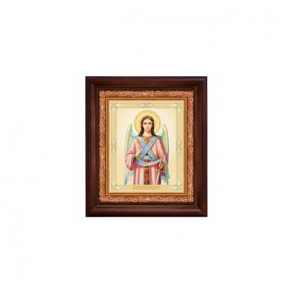 """Ikone mit Holzrahmen, """"Angel"""" 10x12 cm"""