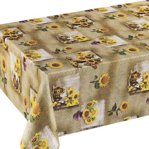 Tischdecke М, Sonnenblumen in der Vase, 20x1,4 m