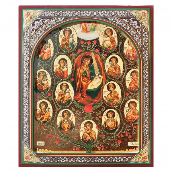"""Ikone (Holz), in Kartonbox, """"Drevo Bogoroditsy"""", 15x18 cm"""