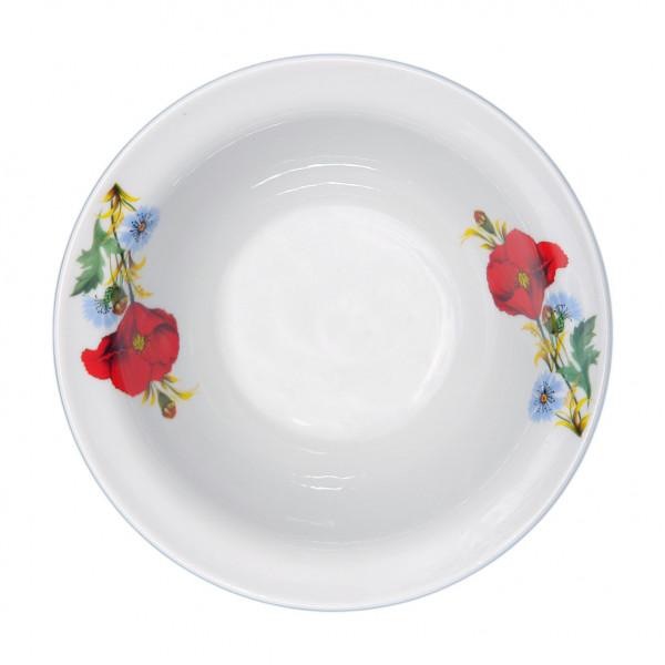 """Schüssel aus Porzellan 550 ml """"Nostalgie"""" - """"Rote Mohnblumen"""""""