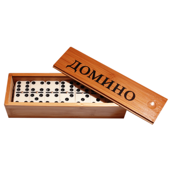 "Brettspiel ""Domino"" in Holzbox"