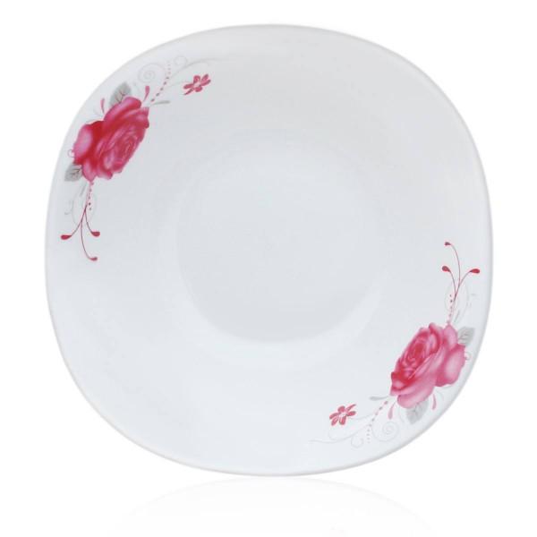 """Salatteller aus Porzellan """"Große Rosen"""", 18 cm"""