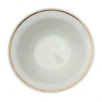 """Salatteller aus Porzellan 360 ml """"Nostalgie"""" - """"Weiß mit Gold"""""""