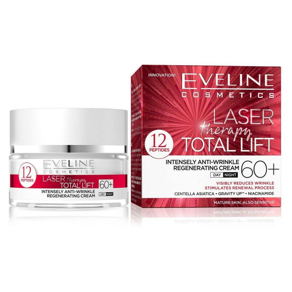 """Eveline """"Laser Therapy Total Lift"""" Gesichtscreme 60+, 50ml"""
