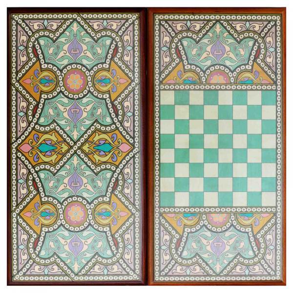 """Backgammon """"Orientalisch"""", aus Holz, 600x300 mm"""