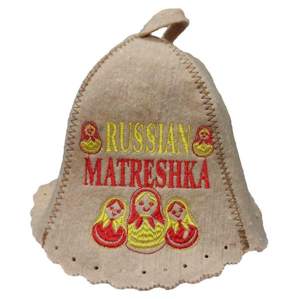"""Filzhut für Sauna, """"Russian Matreshka"""""""