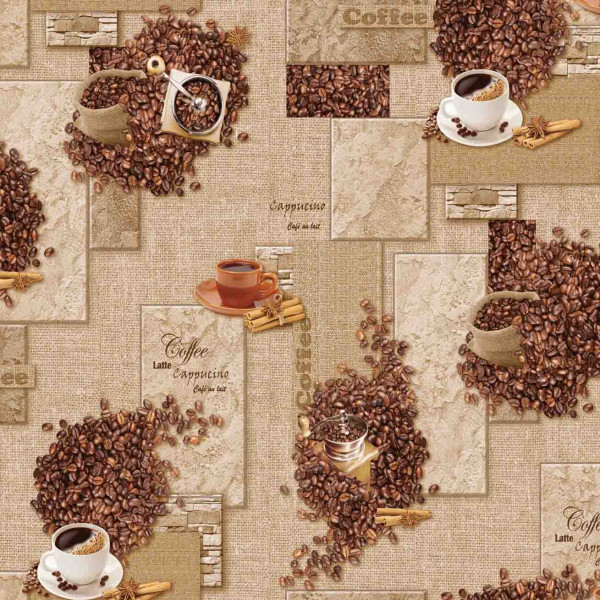 Tischdecke М, Kaffee, 20x1,4 m