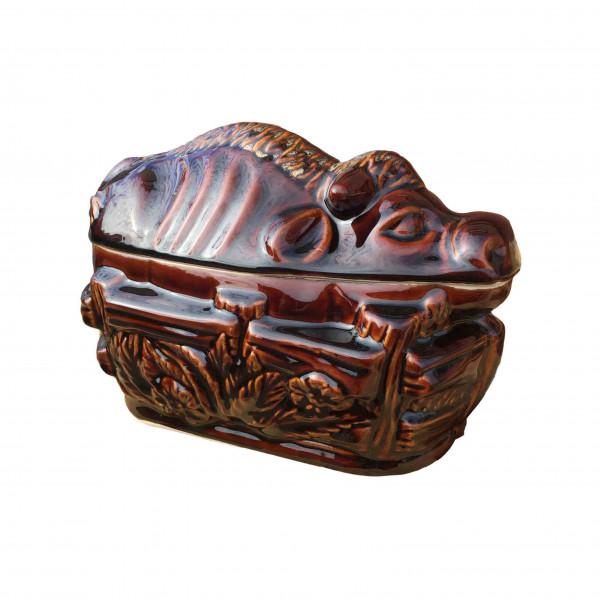 "Backtopf Keramik, ""Stier"", klein, 0,75 l"