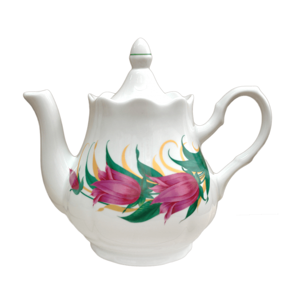 "Teekanne aus Porzellan 800 ml ""Nostalgie"" - ""Tulpen"""
