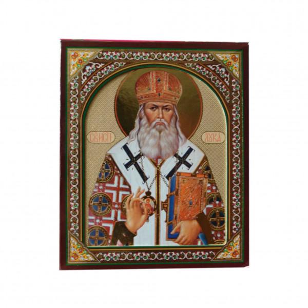 "Ikone (Holz), in Kartonbox, ""S. Luka"", 10x12 cm"