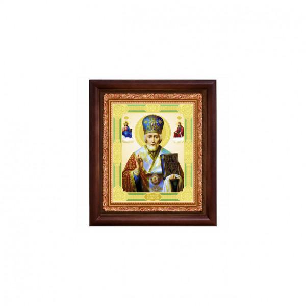 "Ikone mit Holzrahmen, ""Nikolaj"" 10x12 cm"