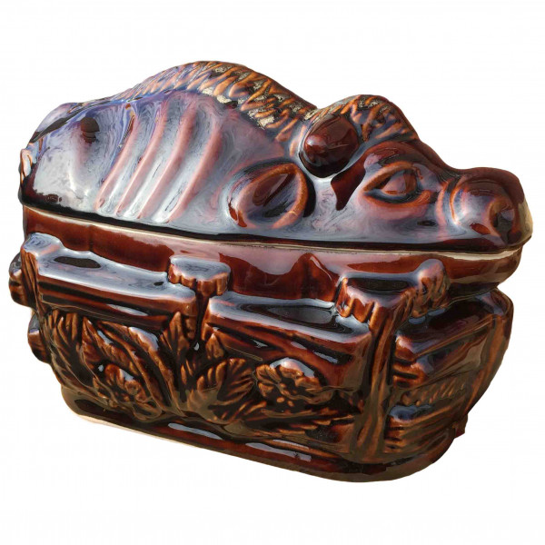 """Backtopf Keramik, """"Stier"""", glanz, 3 l"""