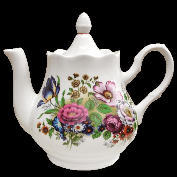 """Teekanne aus Porzellan 1750 ml """"Nostalgie"""" - """"Blumenwiese"""""""