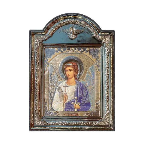 """Ikone (Kunststoff), """"Angel Hranitel"""", 10x12 cm"""