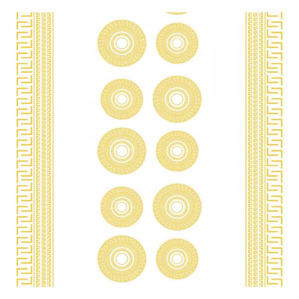 Tischdecke M, Goldene Kreise, 20x1,4