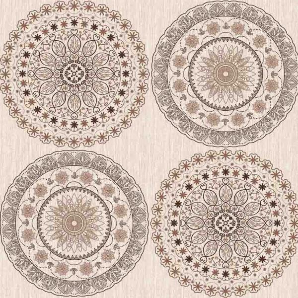 Tischdecke М, Große beige Kreise, 20x1,4 m