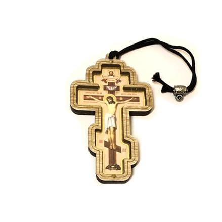 Kreuz aus Holz, Aufhänger für Auto, 10 х 5,5 сm