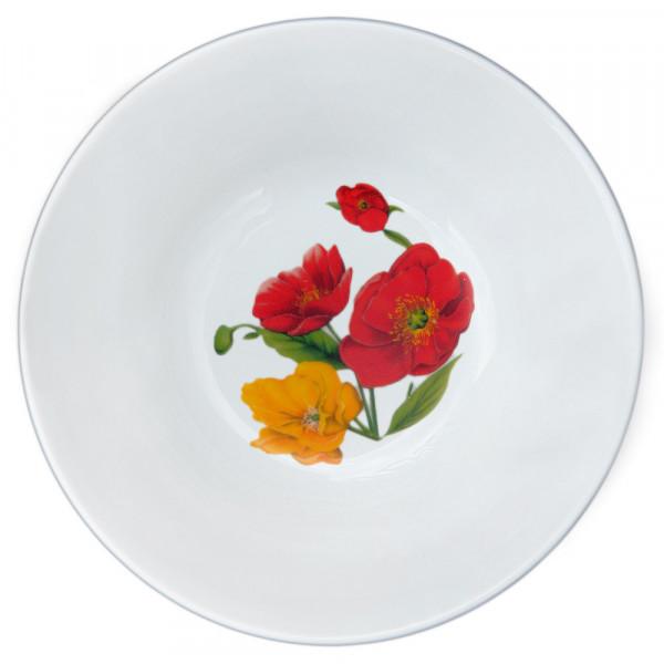 "Salatteller aus Porzellan 1150 ml ""Nostalgie"" - ""Feldmohnblumen"""