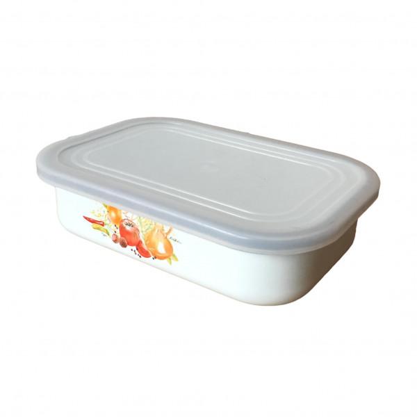 """Behälter emailliert """"Italienische Küche"""", 0,8 L, mit Plastikdeckel"""
